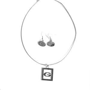Georgia Bulldogs pendent and earrings set